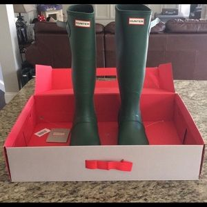 Hunter Green Tall Boots